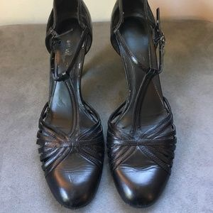 Nine West 1920's Style Black High Heels SIZE 9M
